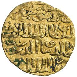 BAHRI MAMLUK: Sha'ban II, 1363-1376, AV dinar (6.02g), Dimashq, AHxx7. VF