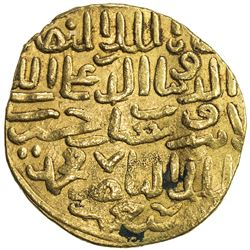 BAHRI MAMLUK: 'Ali II, 1376-1381, AV dinar (7.48g), MM, AH7xx. VF