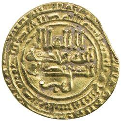 ABBASID OF YEMEN: al-Muqtadir, 908-932, AV amiri dinar (1.29g), San'a, AH309. VF