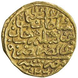 OTTOMAN EMPIRE: Suleyman I, 1520-1566, AV sultani (3.49g), Misr, AH926. VF