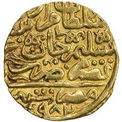 OTTOMAN EMPIRE: Murad III, 1574-1595, AV sultani (3.48g), Misr, AH974. EF