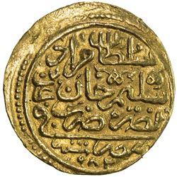 OTTOMAN EMPIRE: Murad III, 1574-1595, AV sultani (3.42g), Misr, AH982. EF