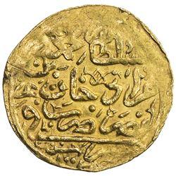 OTTOMAN EMPIRE: Mehmet III, 1595-1603, AV sultani (3.44g), Misr, AH1003. VF