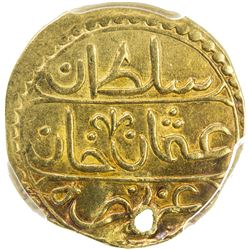 ALGIERS: Osman III, 1754-1757, AV 1/2 sultani, Jazayir, AH1168. PCGS EF