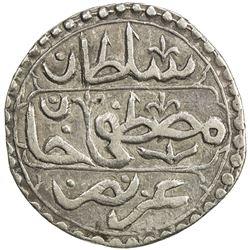 ALGIERS: Mustafa III, 1757-1774, AR 1/4 budju (3.28g), Jazayir, AH1172. VF
