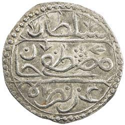 ALGIERS: Mustafa III, 1757-1774, AR 1/4 budju (3.36g), Jazayir, AH1182. VF-EF