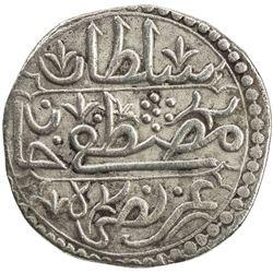 ALGIERS: Mustafa III, 1757-1774, AR 1/4 budju (3.27g), Jazayir, AH1184. EF