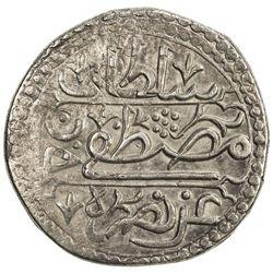 ALGIERS: Mustafa III, 1757-1774, AR 1/4 budju (3.42g), Jazayir, AH1185. EF