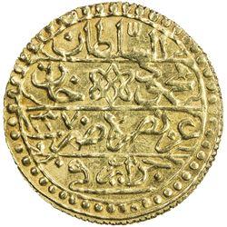 ALGIERS: Mahmud II, 1808-1830, AV sultani (3.04g), Jazayir, AH1237. EF