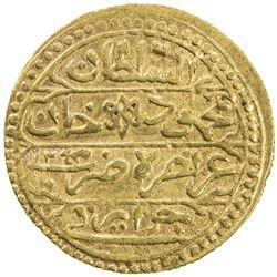 ALGIERS: Mahmud II, 1808-1830, AV sultani (2.93g), Jazayir, AH1243. VF-EF