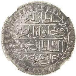 ALGIERS: Mahmud II, 1809-1830, AR 2 budju, Jazayir, AH1239 (1824). NGC MS63