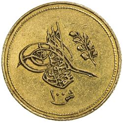 EGYPT: Abdul Mejid, 1839-1861, AV 100 qirsh (8.54g), Misr, AH1255 year 5. EF