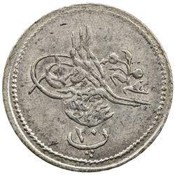 EGYPT: Abdul Aziz, 1861-1876, AR 20 para, Misr, AH1277 year 7. EF-AU