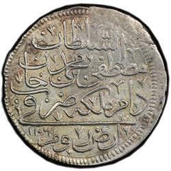 TURKEY: Mustafa II, 1695-1703, AR kurush, Erzurum, AH1106. PCGS AU