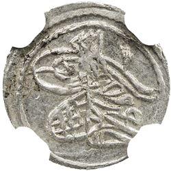 TURKEY: Ahmad III, 1703-1730, AR akce, Kostantiniye, AH1115. NGC MS63