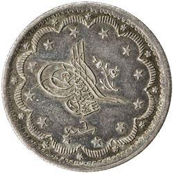TURKEY: Abdul Mejid, 1839-1861, AR 10 kurush, Kostantiniye, AH1255 year 6. EF-AU