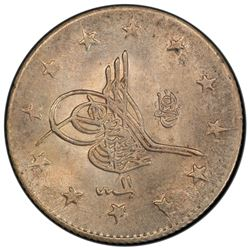 TURKEY: Abdul Hamid II, 1876-1909, AR 2 kurush, Kostantiniye, AH1293 year 11. PCGS MS64