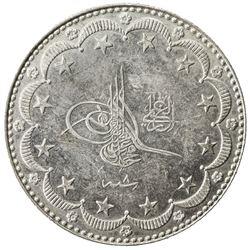TURKEY: Mehmet V, 1909-1918, AR 10 kurush, Kostantiniye, AH1327 year 8. AU