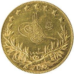 TURKEY: Mehmet V, 1909-1918, AV 100 kurush, Edirne, AH1327 year 2. BU