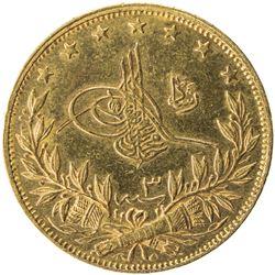 TURKEY: Mehmet V, 1909-1918, AV 100 kurush, Kosova, AH1327 year 3. UNC