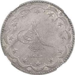 TURKEY: Mehmet VI, 1918-1924, AR 20 kurush, Kostantiniye, AH1336 year 1. NGC AU50