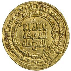 SAMANID: Nasr II, 914-943, AV dinar (4.32g), Nishapur, AH324. VF-EF
