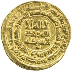 SAMANID: Mansur I, 961-976, AV dinar (3.49g), Amul, AH351. EF