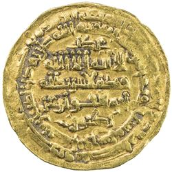 SAMANID: Mansur II, 997-999, AV dinar (2.36g), Nishapur, AH387. VF