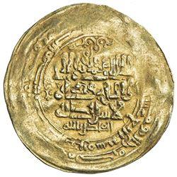 GHAZNAVID: Mahmud, 999-1030, AV dinar (3.42g), Ghazna, AH414. VF