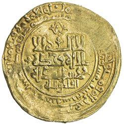 GHAZNAVID: Mahmud, 999-1030, AV dinar (3.79g), Ghazna, AH416. VF