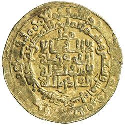 GHAZNAVID: Mahmud, 999-1030, AV dinar (4.03g), Herat, AH395. VF