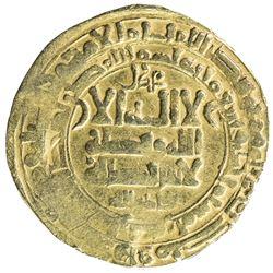 GHAZNAVID: Mahmud, 999-1030, AV dinar (4.46g), Herat, AH401. VF