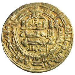 GHAZNAVID: Mahmud, 999-1030, AV dinar (3.98g), Herat, AH406. VF