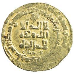 GHAZNAVID: Mahmud, 999-1030, AV dinar (3.68g), Herat, AH411. VF