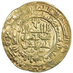 GHAZNAVID: Mahmud, 999-1030, AV dinar (3.15g), Herat, AH412. VF