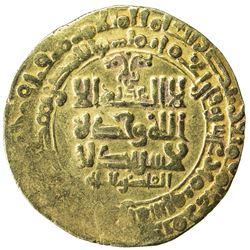 GHAZNAVID: Mahmud, 999-1030, AV dinar (4.27g), Herat, AH418. VF