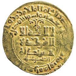 GHAZNAVID: Mahmud, 999-1030, AV dinar (3.13g), Herat, AH418. VF