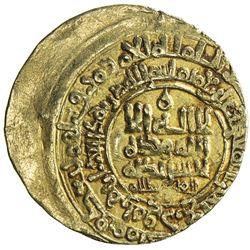 GHAZNAVID: Mahmud, 999-1030, AV dinar (3.41g), Herat, AH421. VF