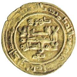 GHAZNAVID: Mas'ud I, 1030-1041, AV dinar (3.41g), Ghazna, AH431. VF
