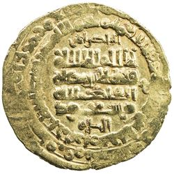 GHAZNAVID: Mas'ud I, 1030-1041, AV dinar (3.28g), Herat, AH422. VF-EF