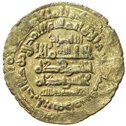 GHAZNAVID: Mas'ud I, 1030-1041, AV dinar (3.19g), Herat, AH423. VF-EF