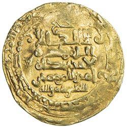 GHAZNAVID: Mas'ud I, 1030-1041, AV dinar (3.87g), Herat, AH424. VF