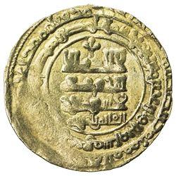 GHAZNAVID: Farrukhzad, 1053-1059, AV dinar (4.66g), Ghazna, AH443. VF