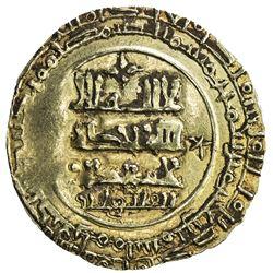 GHAZNAVID: Farrukhzad, 1053-1059, AV dinar (2.94g), Ghazna, blundered date. VF-EF