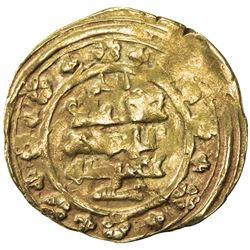 GHAZNAVID: Ibrahim, 1059-1099, AV dinar (4.44g), Ghazna, AH453. F