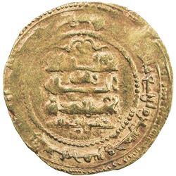 GHAZNAVID: Ibrahim, 1059-1099, AV dinar (4.50g), Ghazna, AH455. VF