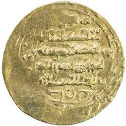 GHAZNAVID: Ibrahim, 1059-1099, AV dinar (4.26g) (Ghazna), AH481. VF