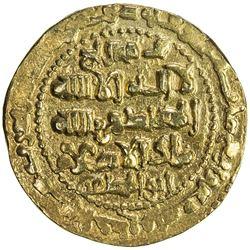 GHAZNAVID: Ibrahim, 1059-1099, AV dinar (6.05g), Ghazna, AH491. EF