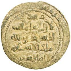 GHAZNAVID: Ibrahim, 1059-1099, AV dinar (4.45g) (Ghazna), ND. EF