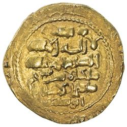 GHAZNAVID: Mas'ud III, 1099-1115, AV dinar (6.00g), Ghazna, AH492. EF